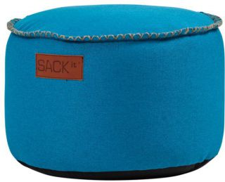 SACKit RETROit Poef Canvas Drum - Turquoise