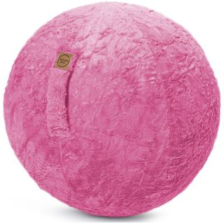 Sitting Ball Zitbal Fluffy 65 cm - Pink