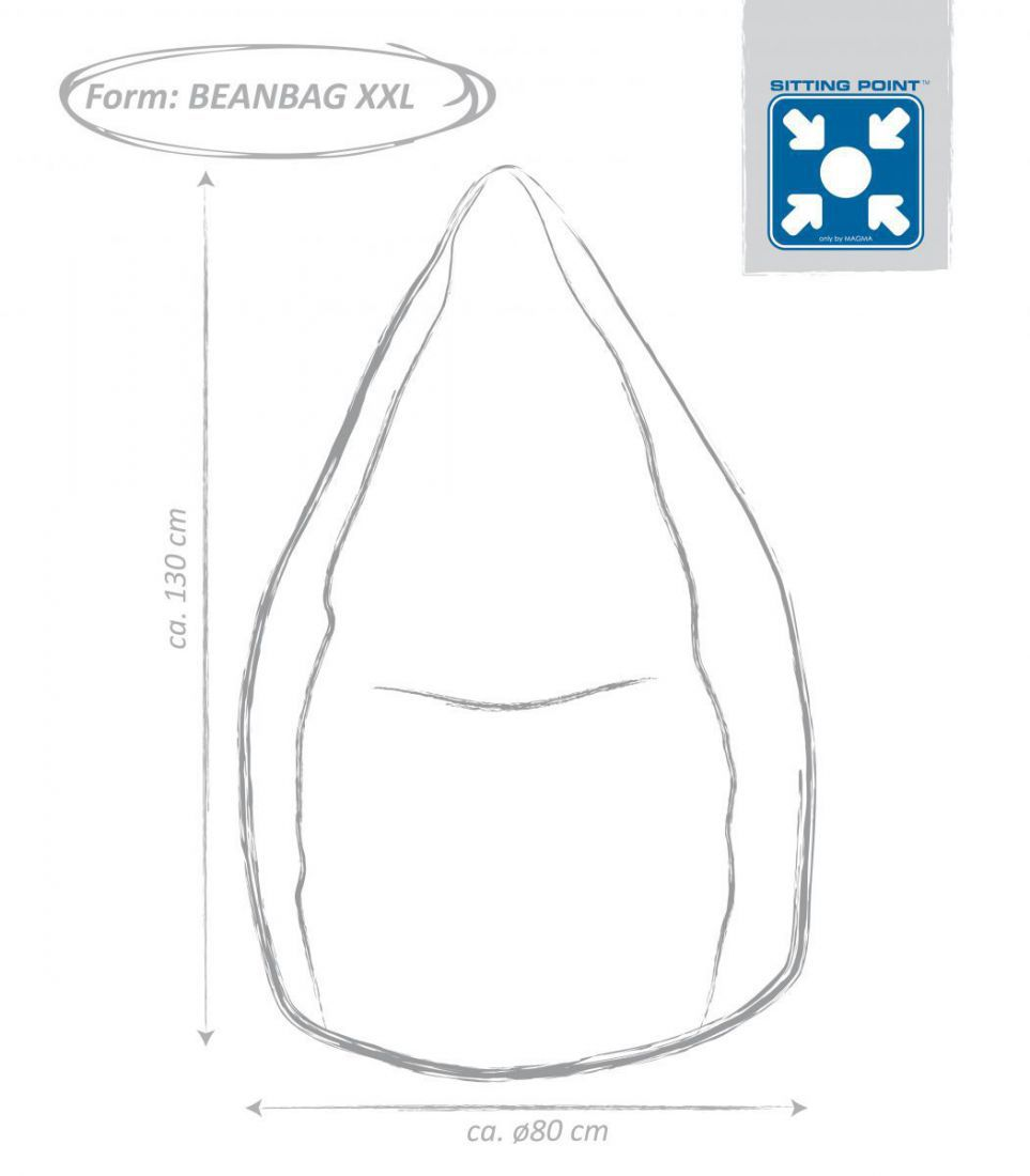 sitting point beanbag brava xxl zwart