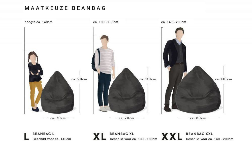sitting point beanbag easy xl geel