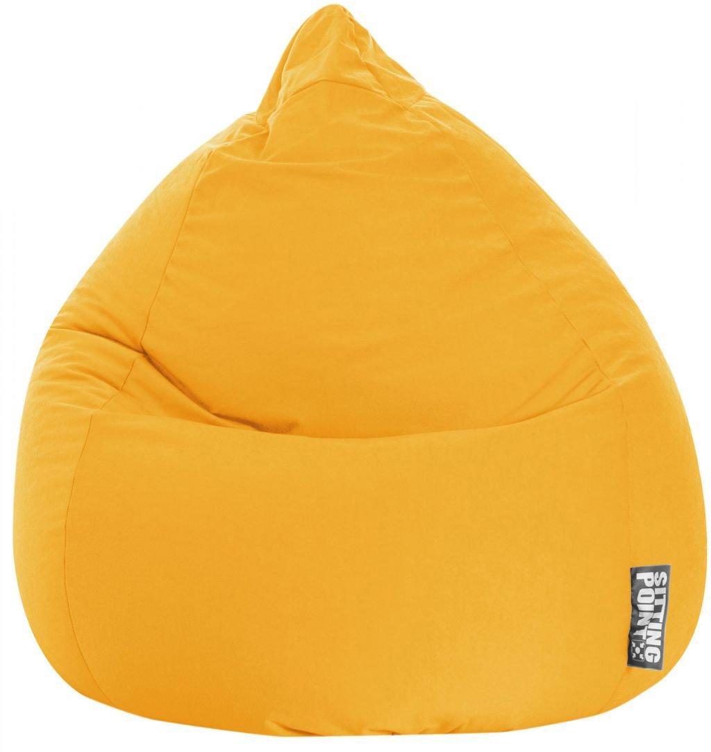 sitting point beanbag easy xl geel