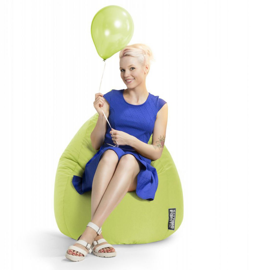 sitting point beanbag easy xl groen