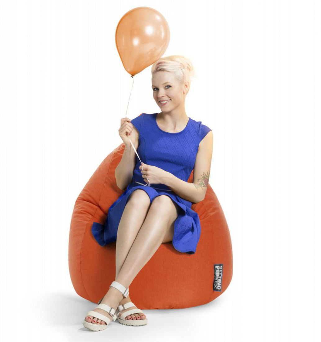 sitting point beanbag easy xl oranje