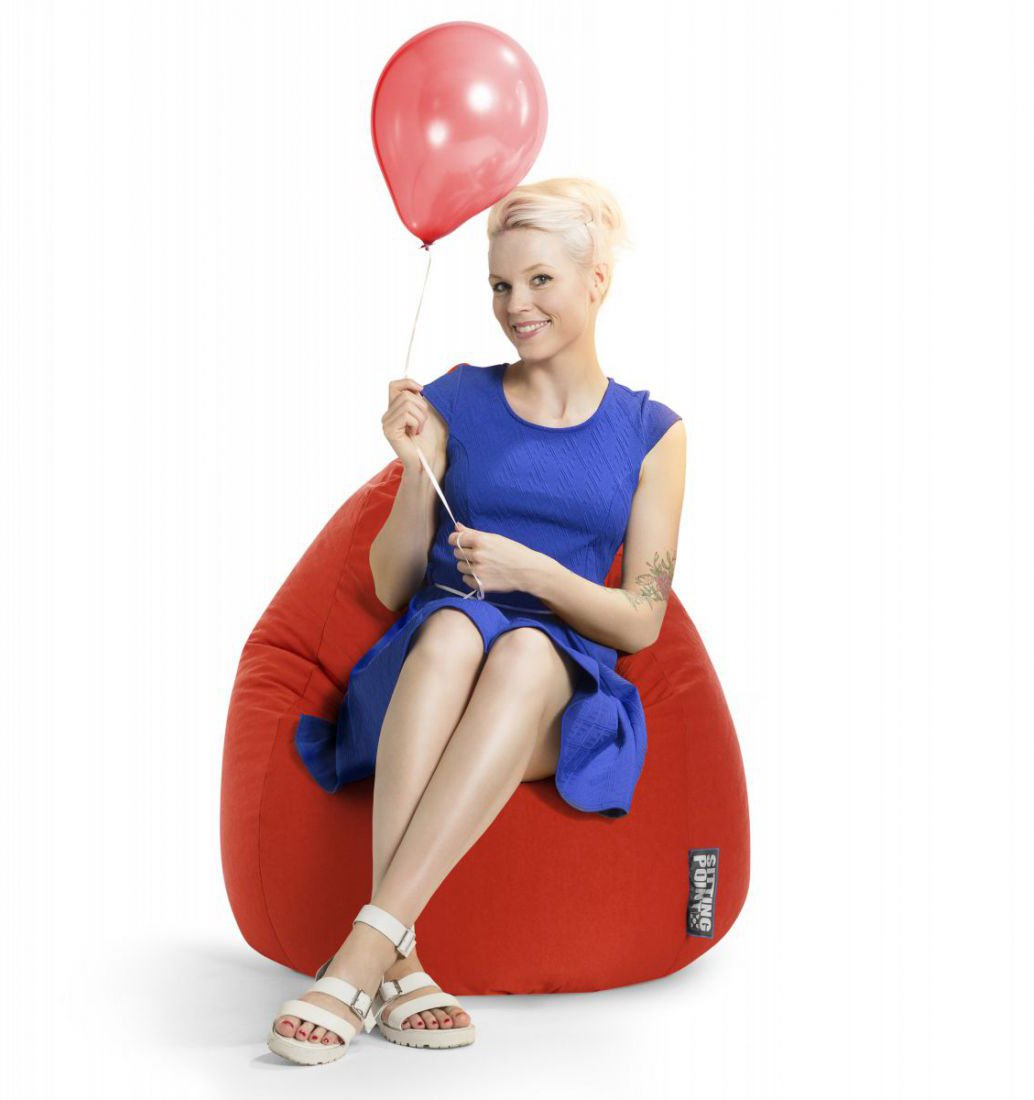 sitting point beanbag easy xl tomaat