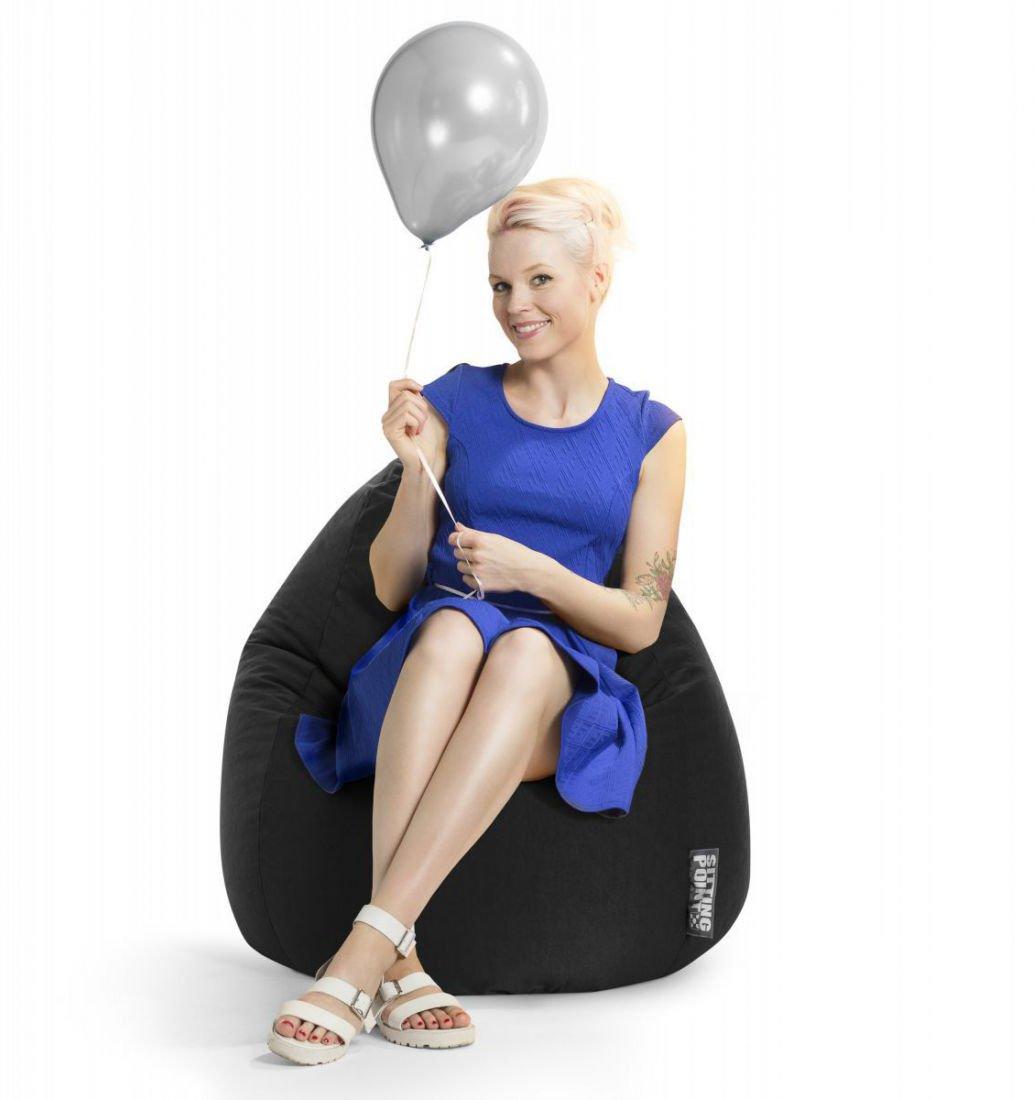 sitting point beanbag easy xl zwart