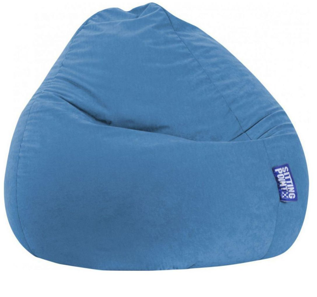 sitting point beanbag easy xxl blauw