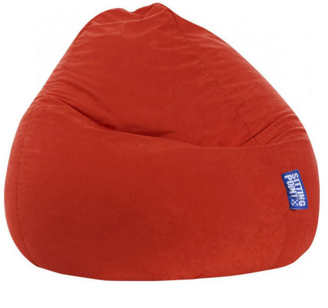 sitting point beanbag easy xxl tomaat