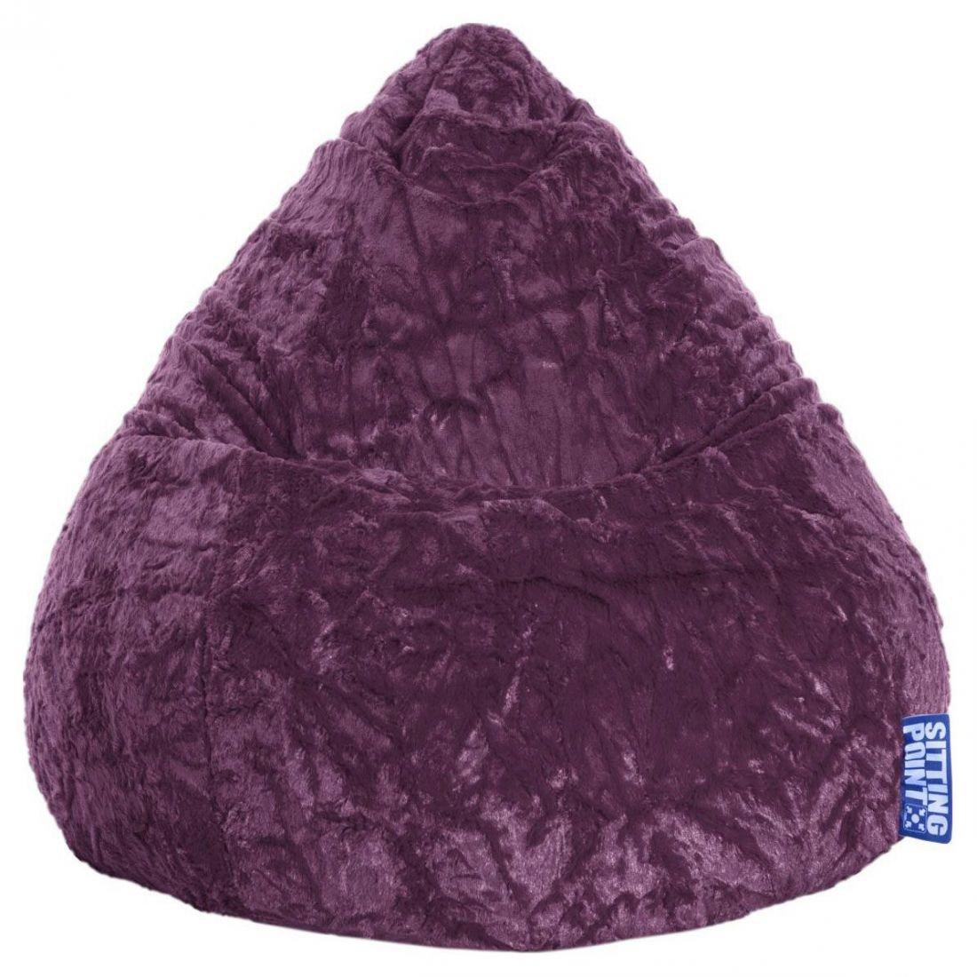 sitting point beanbag fluffy xl aubergine