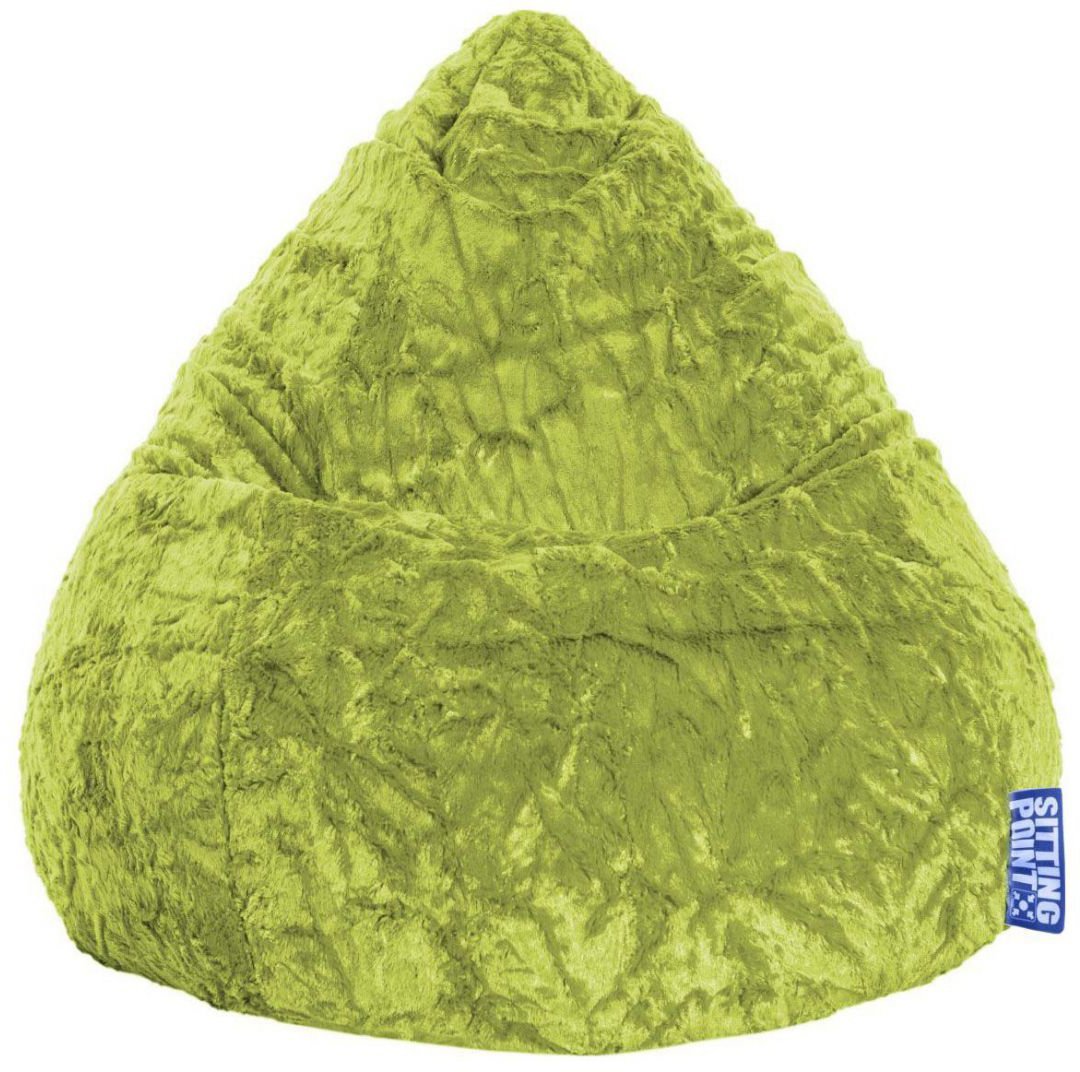 sitting point beanbag fluffy xl groen