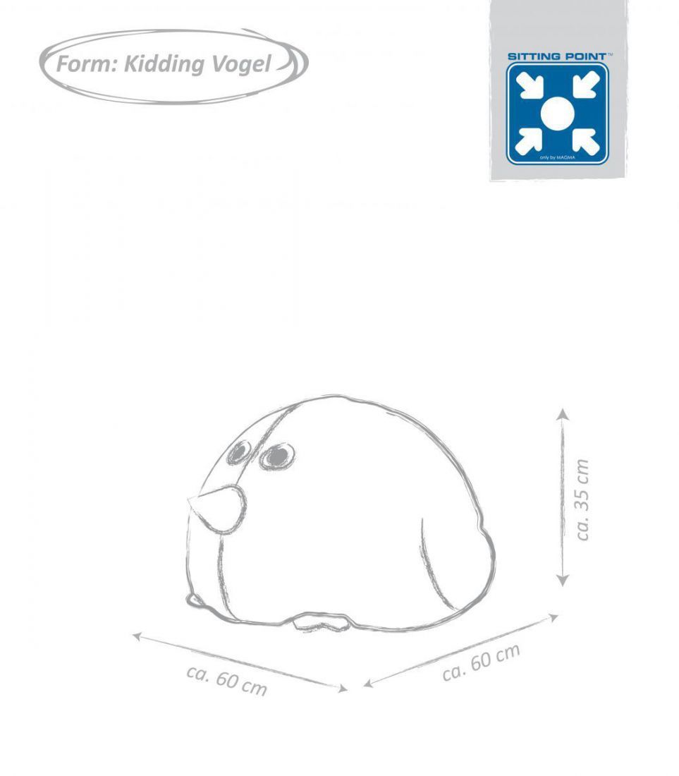sitting point beanbag kinder zitzak vogel