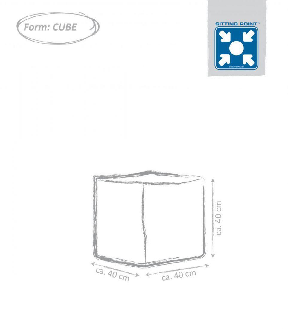 sitting point cube scuba donkergrijs
