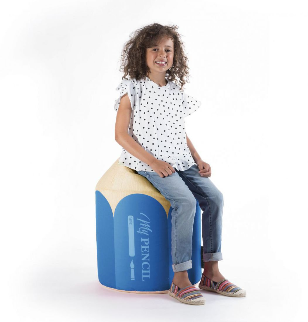 sitting point kinder poef dotcom pencil blauw