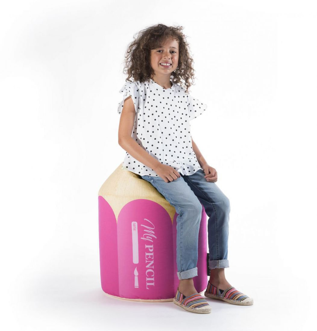 sitting point kinder poef dotcom pencil roze