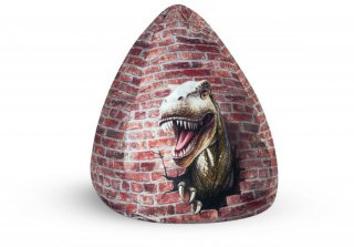 Sitting Point Kinder Zitzak BeanBag Dino Terracotta