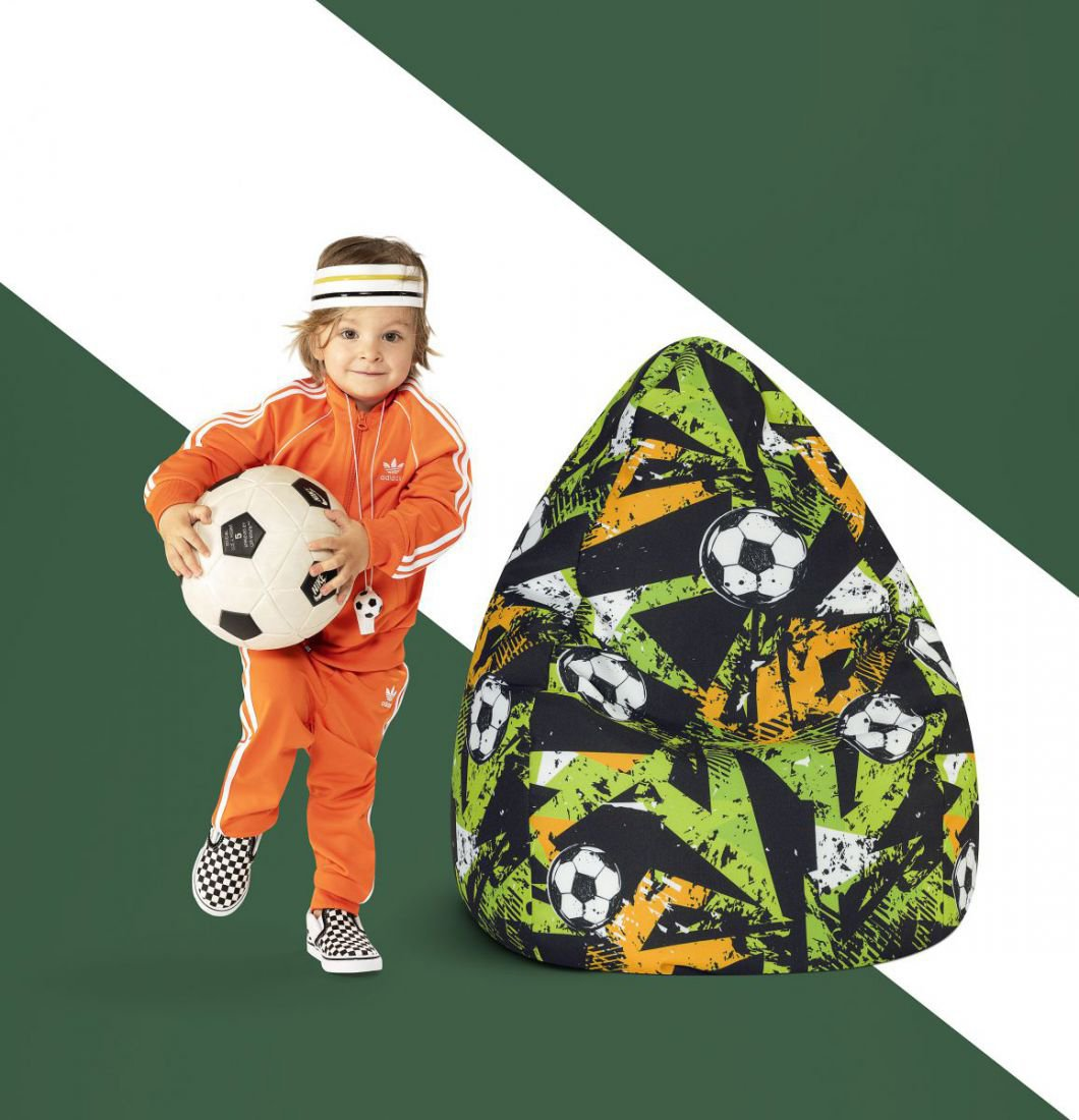 sitting point kinder zitzak beanbag goal groen