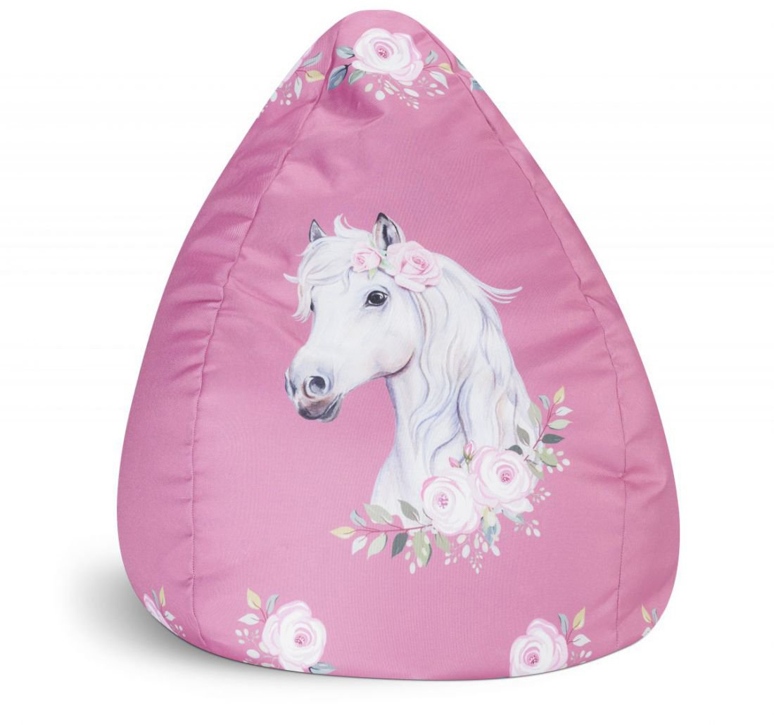 sitting point kinder zitzak beanbag horse rose