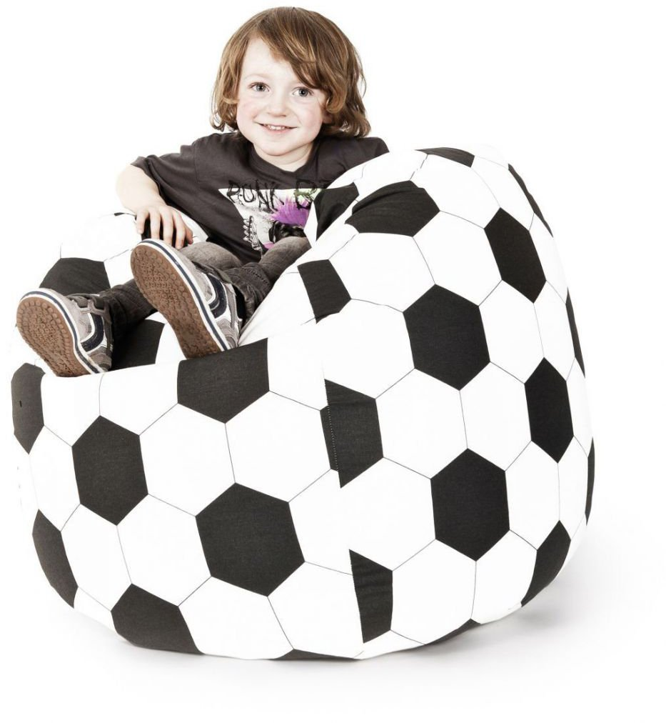 sitting point kinder zitzak beanbag voetbal l