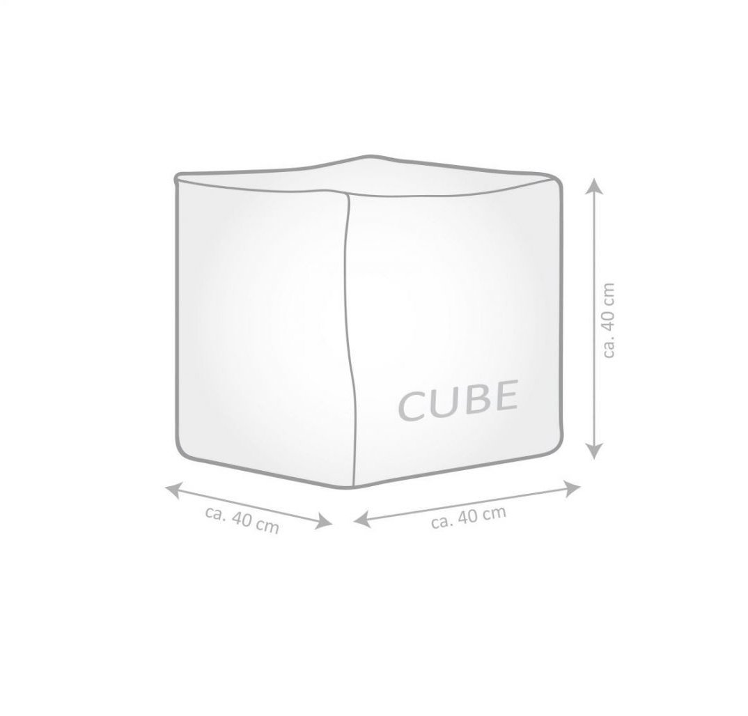 sitting point poef cube camo olive