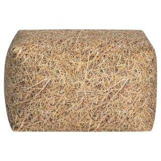 Sitting Point Poef Cube Straw L- Beige