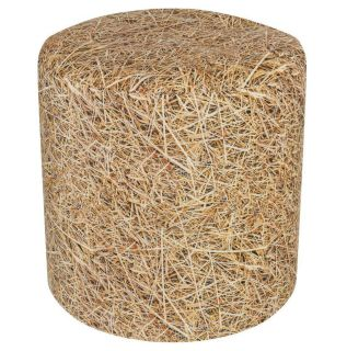 Sitting Point Poef Dot Com Straw - Beige