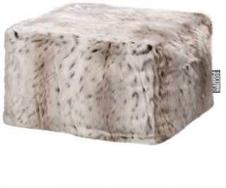 Sitting Point Poef Loft Skins - Sneeuw lynx