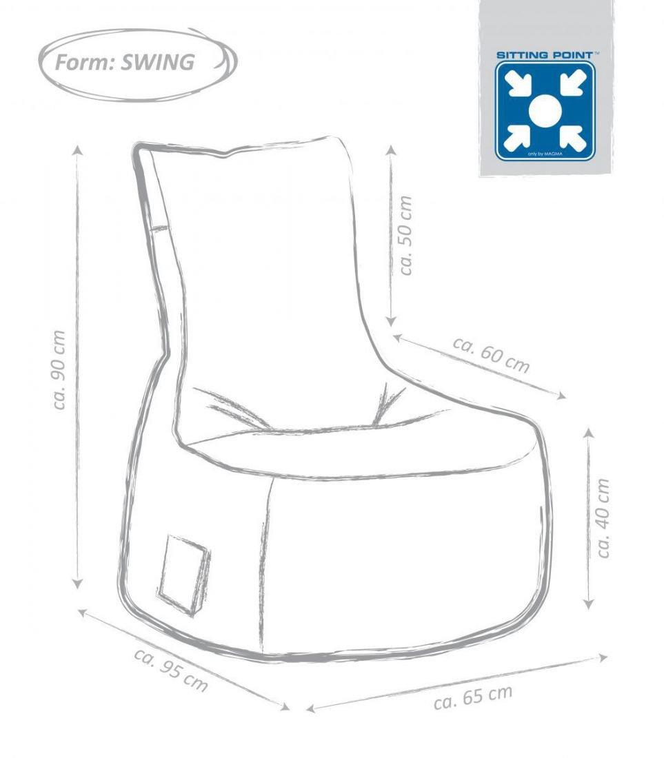 sitting point swing scuba jeansblauw