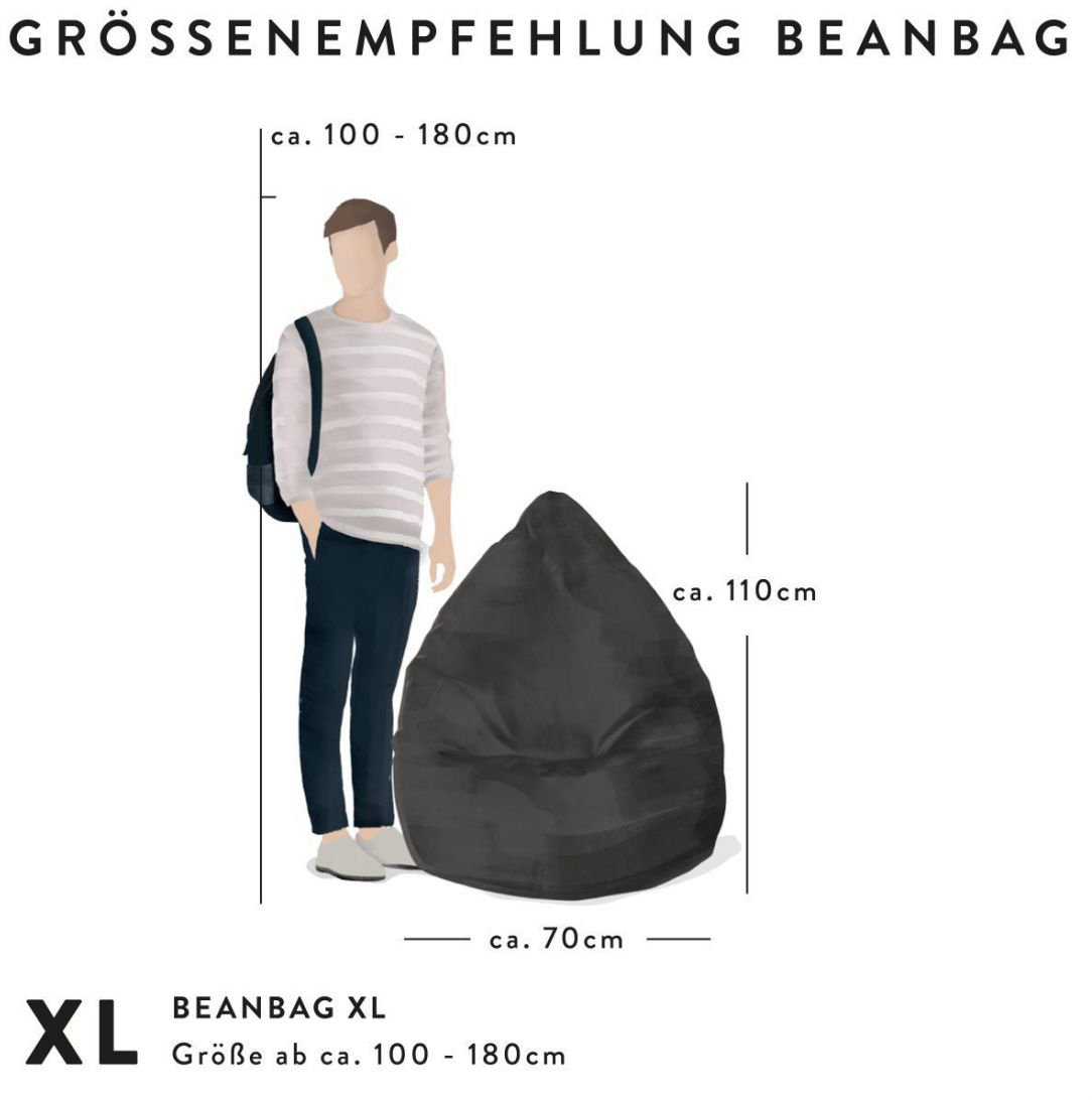 sitting point zitzak beanbag alfa xl zwart
