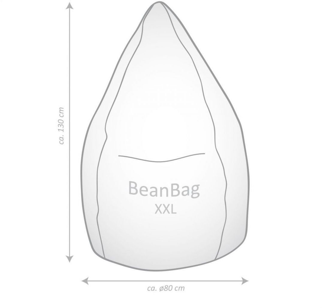 sitting point zitzak beanbag alfa xxl oudroze