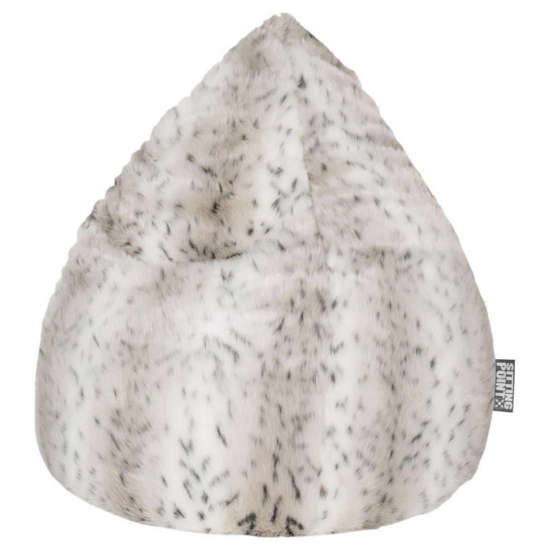sitting point zitzak beanbag skins xl sneeuw lynx