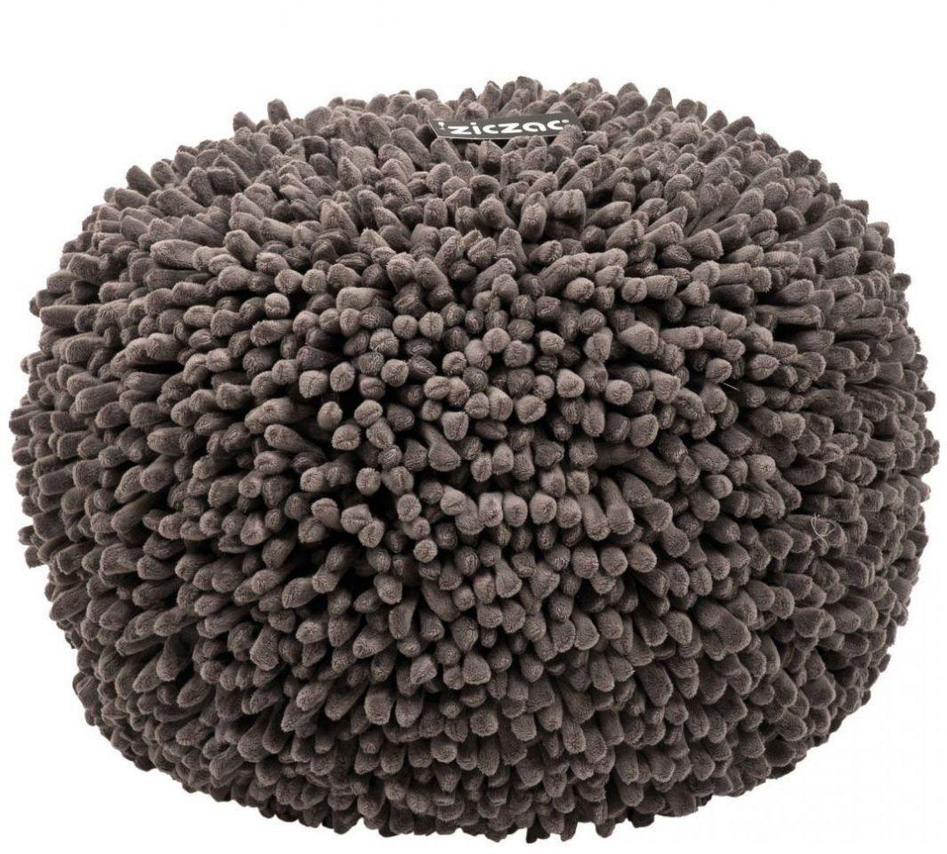 ziczac design poef spiky grijs